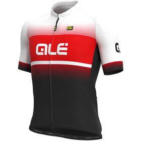 Alé Cycling Solid Blend Maillot Manga Corta Hombre, black/red/white